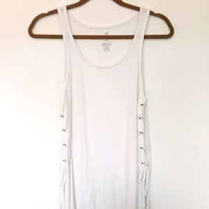 American Eagle white ribbed tank top